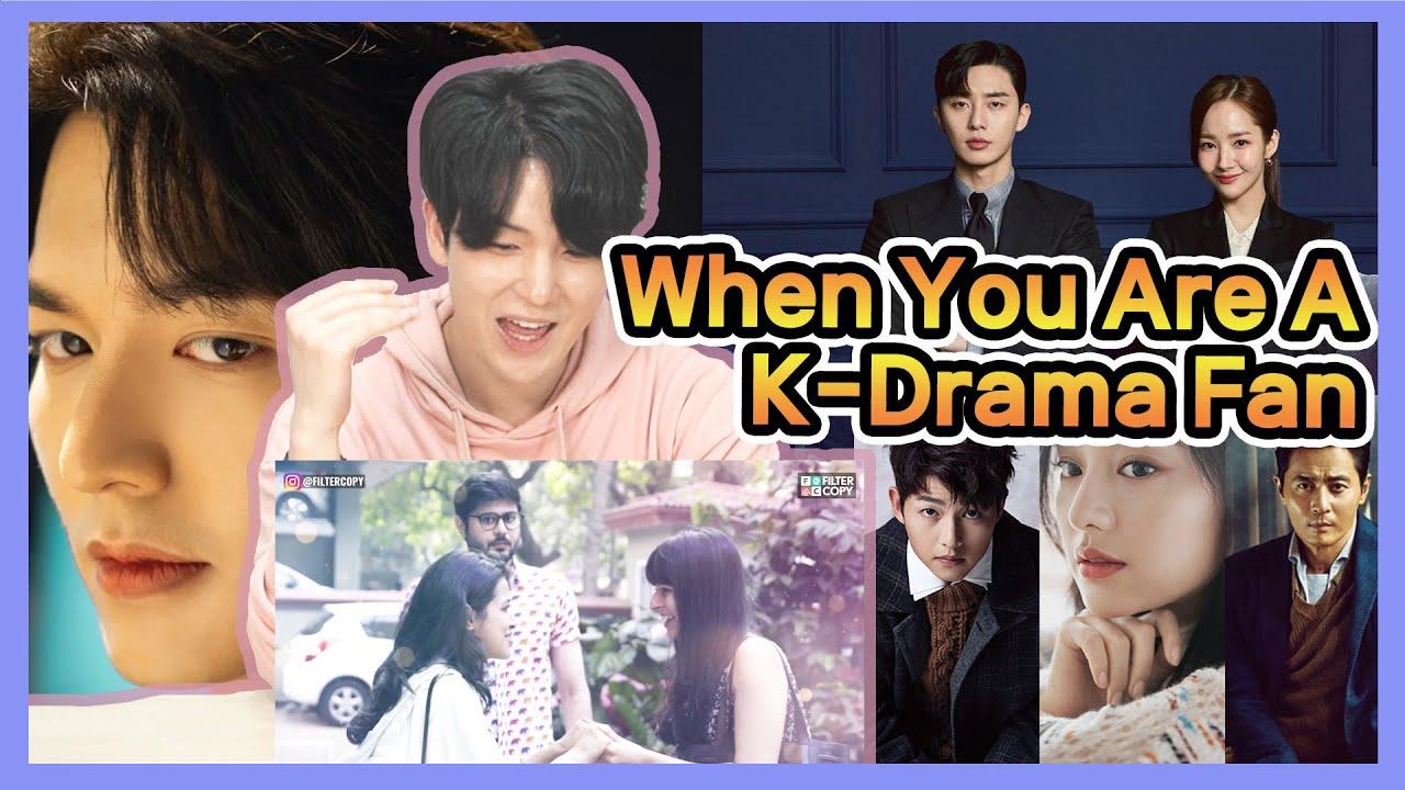 Korean Reacts to 【When You Are A K-Drama Fan】 | FilterCopy | Ft. Anant Kaushik & Diksha Juneja