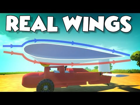 LIFT GENERATING WINGS and HELICOPTER BLADES! - Scrap Mechanic Mod Showcase