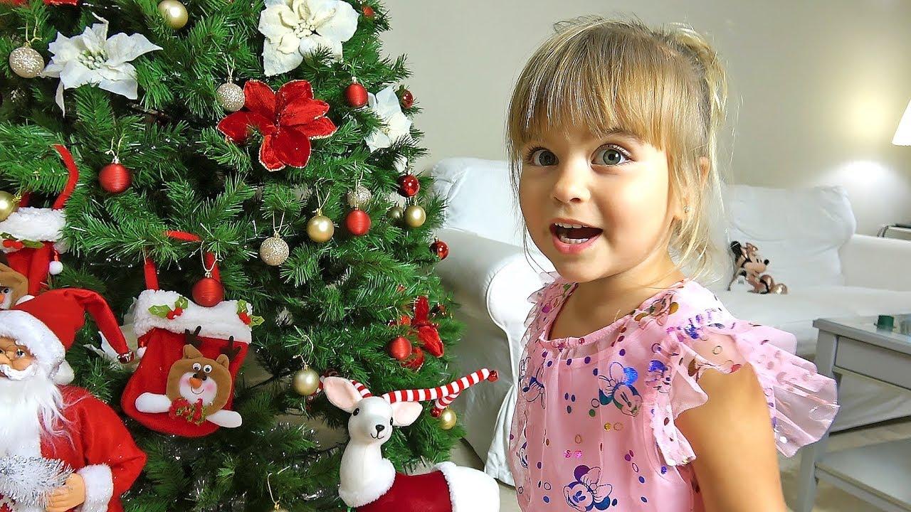 Оливия и папа готовятся встречать Новый Год | Наряжаем елку и пишем письмо деду морозу 2020 год