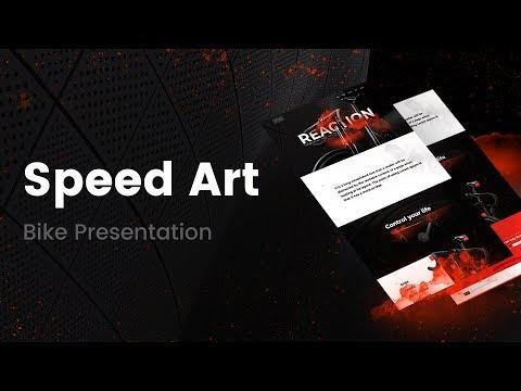 Web Design - Speed Art 8 - Template in Elementor ( #elementor #photoshop )