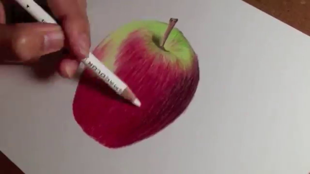 How to draw realistic apple