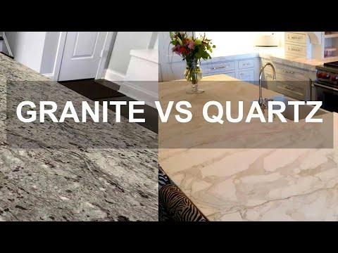 Granite Vs Quartz Kitchen Countertops   Pros And Cons   YouTube