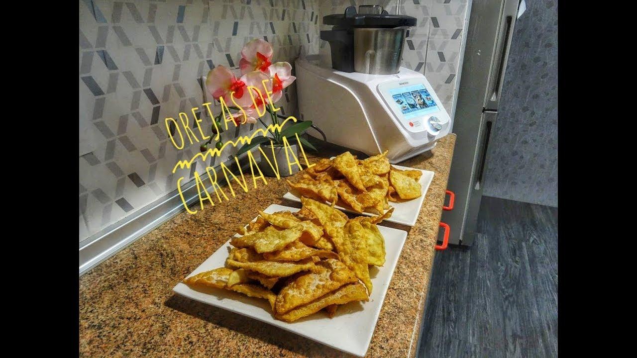 Receta de Orejas de Carnaval Monsieur Cuisine Connect Lidl Silvercrest