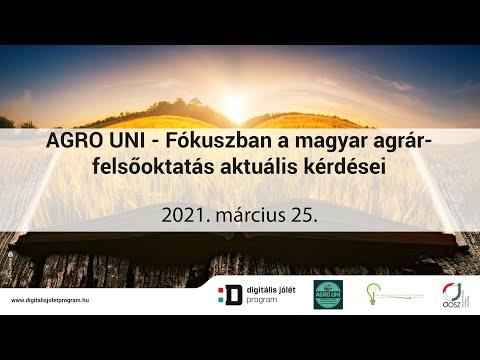 AGRO UNI Online konferencia - Fókuszban a magyar agrár-felsőoktatás aktuális kérdései