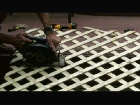 How To Install Lattice Around A Deck Video Youtube