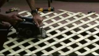 How To Install Lattice Around A Deck Video