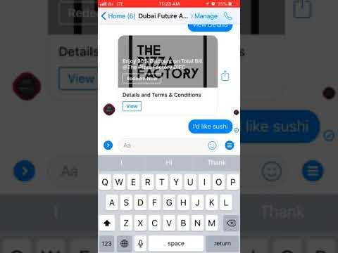 Dubai Future Accelerators DFA-Deals Facebook Messenger Chat-Bot