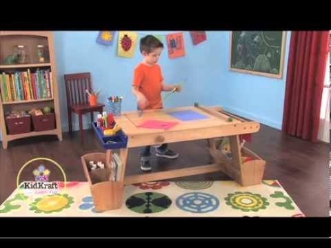Good Kidkraft Art Table With Drying Rack U0026 Storage