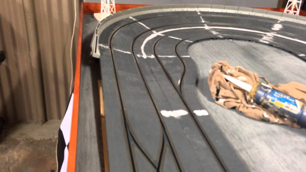Scx Digital Nascar Slot Car Track 1 32 Build Filling The Gaps