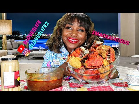 11 Fried Lobster Tails Mukbang
