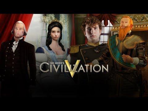 Civilization V: Fryderyk Veggington, Paweł Prus, Caryca Natalia, Gustavus Rudylphus