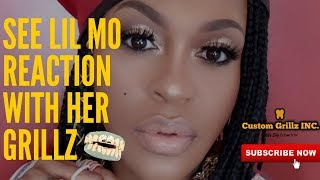 Love and Hip Hop Lil Mo Reaction Getting Custom Gold Grillz by Custom Grillz Inc.
