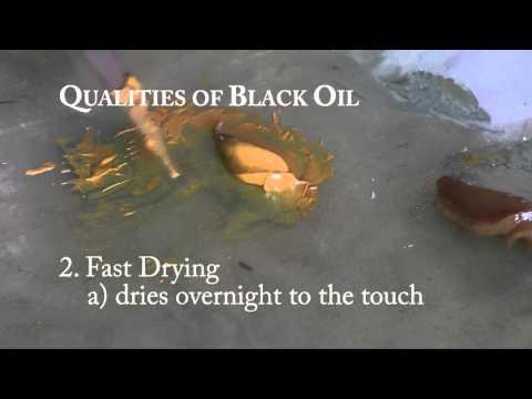 Old Masters Maroger - BLACK OIL MEDIUM Qualities and Uses