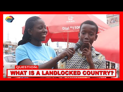What is a LANDLOCKED COUNTRY  Street Quiz African Home FunnyAfricanVideos StreetComedy AfricanComedy
