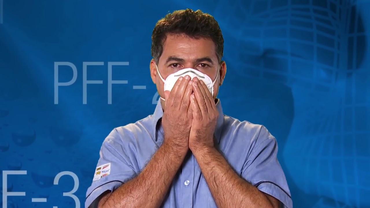 2ffd9b22ec5d7 Respiradores Descartáveis 3M Treinamento EPI. 3M Brasil