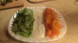 Салат в ирландских цветах