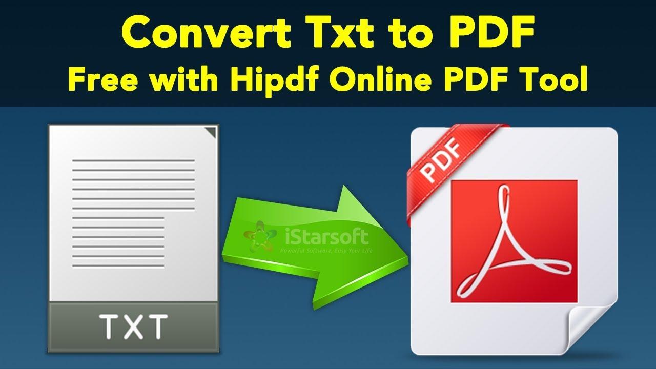 To pdf txt