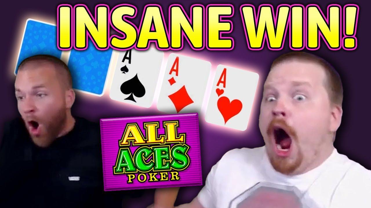 MEGA BIG WIN on ALL ACES POKER! (Video Poker)