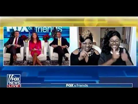The POTUS Vs  The MSM   Diamond & Silk ROCK Fox & Friends   12 9 17