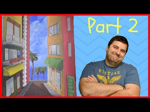 Beach Front Street Scene Part 2 – Acrylic Painting Tutorial for Beginners – Studio-214