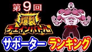 【無課金者のドッカンバトル#321】第9回 爆裂チェインバトル  サポーターランキング ( vs ジレンフルパワー)