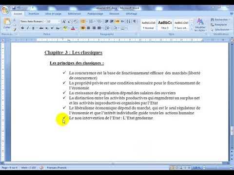 """Histoire de la pensée économique S5 partie 6 """" les classiques """""""