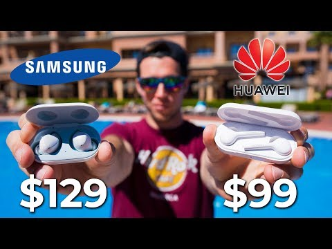 Huawei Freebuds Lite VS Samsung Galaxy Buds + Waterproof POOL TEST !