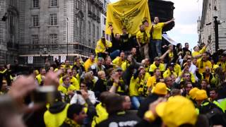 Borussia Dortmund fans singing in London