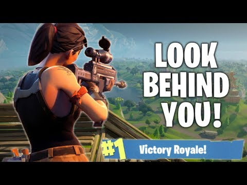 HE'S RIGHT BEHIND YOU!! Fortnite Battle Royale