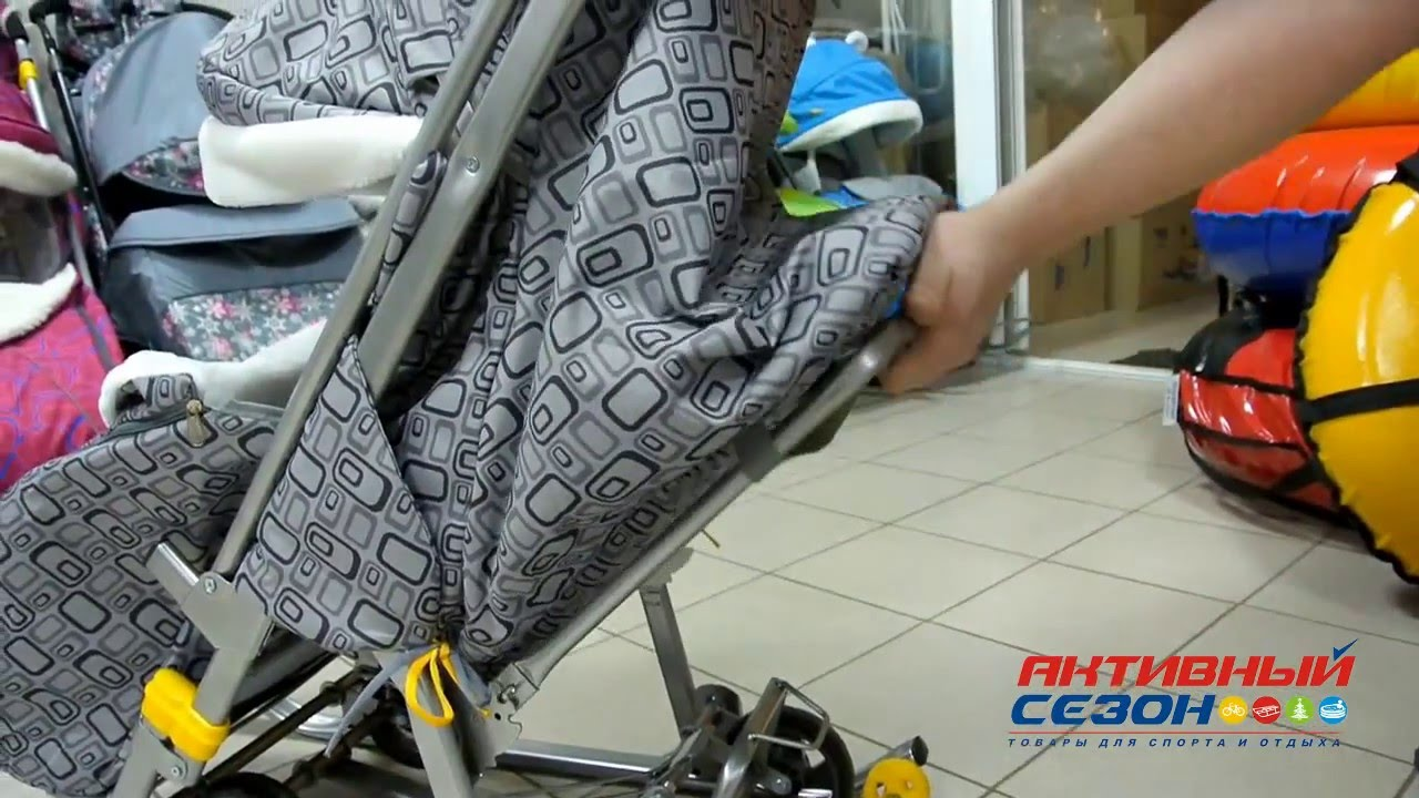 Обзор на санки-коляску GEBURT Снежок - YouTube
