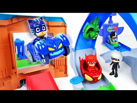 PJ Masks rival racers track playset and surprise eggs open play - DuDuPopTOY