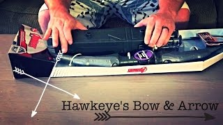 Disney Marvel Hawkeye Deluxe Bow and Arrow Set Unboxing