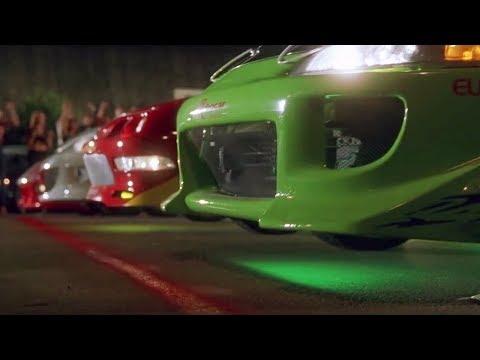 Fast & Furious (2001) Street Race Scene Feat MANUEL(Initial D) - GAS GAS GAS