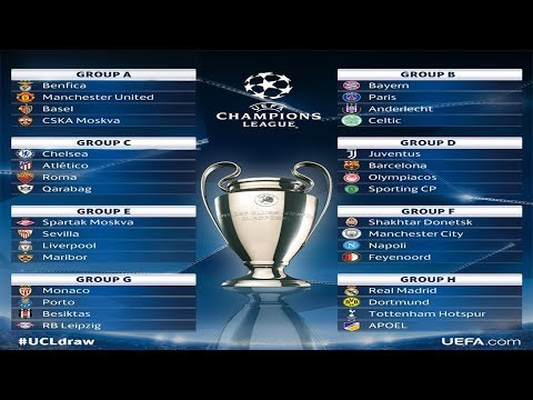 2017/18 UEFA Champions League Group Stage draw.