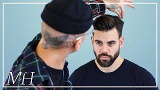Men's Modern Messy Quiff & Beard Trim   Haircut and Style Tutorial