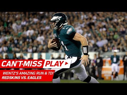 Carson Wentzs HoudiniLike Escape Trick on Scramble Sets Up His 4th TD  CantMiss Play  NFL Wk 7