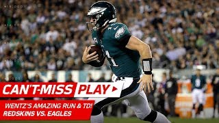 Carson Wentz's Houdini-Like Escape Trick on Scramble Sets Up His 4th TD | Can't-Miss Play | NFL Wk 7