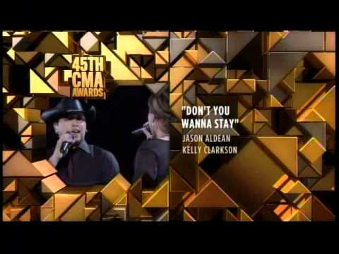 Jason Aldean & Kelly Clarkson - CMA 'Musical Event of The Year' Winner
