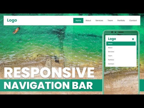Responsive Navigation Bar | Html CSS And JQuery