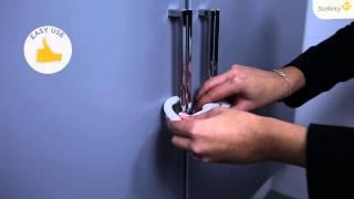 Видео: Safety 1st защита на дверцы