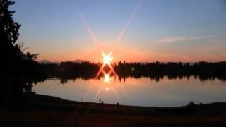 Sunrise at Silver Lake, Everett, Washington - August 4th 2011