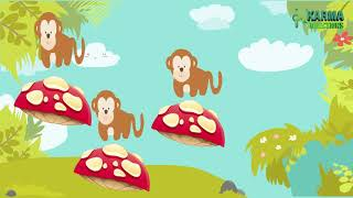 Five little monkeys jumping on the bed Nursery Rhymes in English R&B Kids Songs