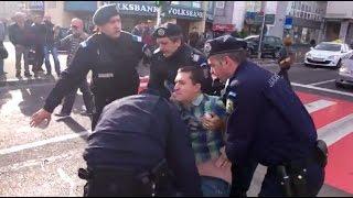 """Brasov: Cetatean agresat de jandarmi pentru ca a strigat """"Vrem alegeri Libere"""""""