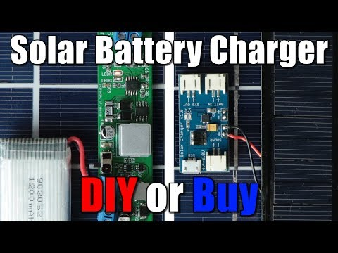 Solar Battery Charger (LiPo/Li-Ion) || DIY or Buy