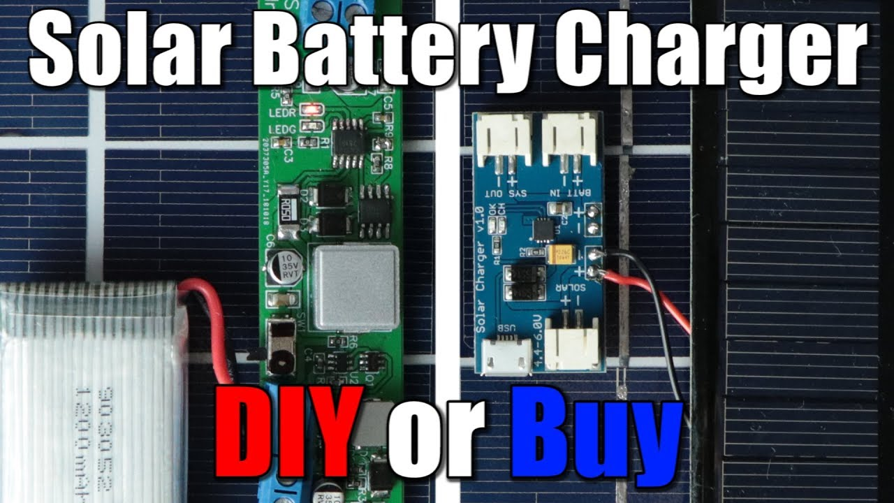 Solar Battery Charger (LiPo/Li-Ion) || DIY or Buy