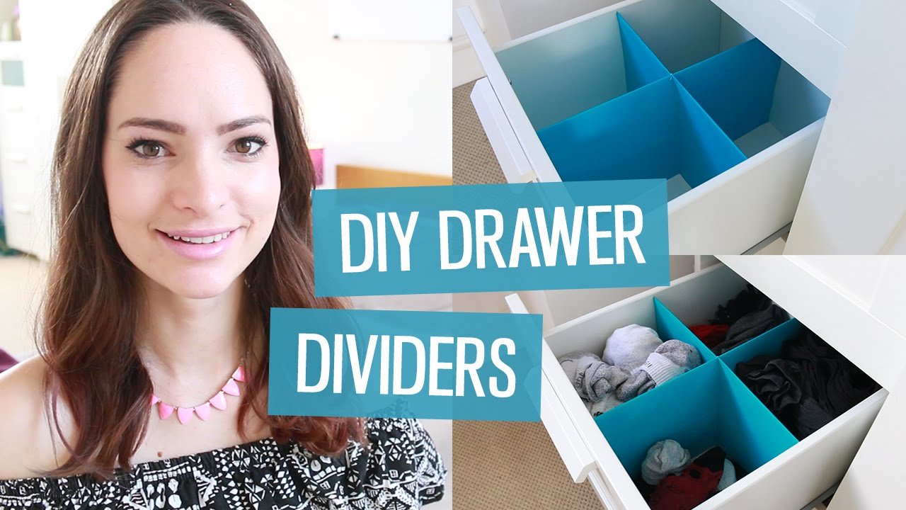 Diy Drawer Dividers Charlimarietv Youtube