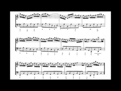 Bach - Flute Sonata in C major, BWV 1033; Alexander Murray on flute, Complete with Sheet Music