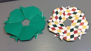 Easy Origami Dog Christmas Wreath