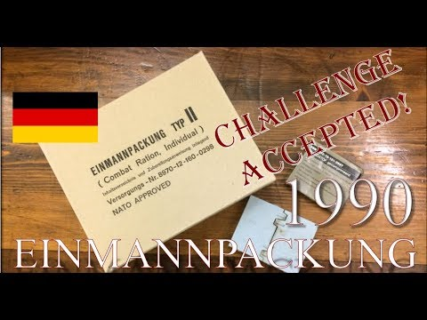 """1990"" German Field Ration, Einmannpackung Typ II"