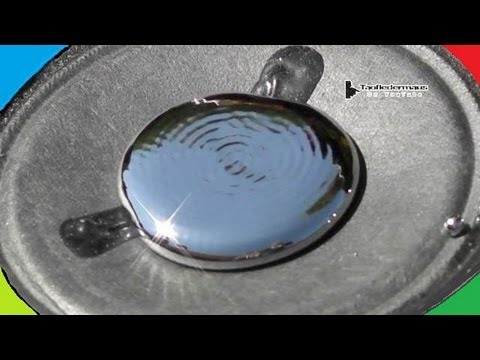 MERCURY (Hg) on a Speaker Experiment - What happens?